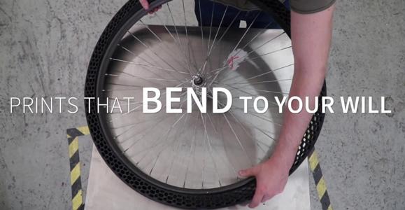 BigRep 3D Printed bicycle tyres