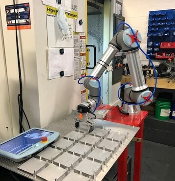 CNC production with cobot assistance