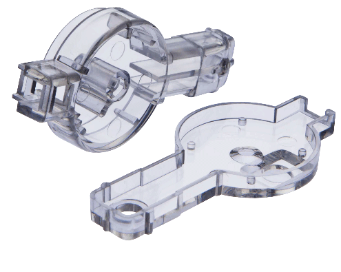 Clear injection moulded prototype parts