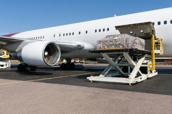 Mass production using airfreight