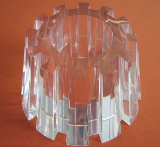 CNC machined clear part