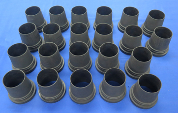 Compression moulded flexible parts