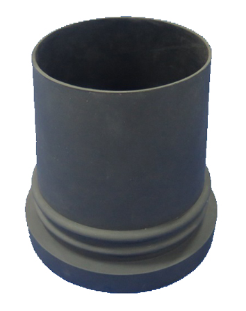 Compression moulded rubber part