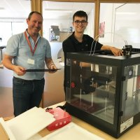 New 3D Printer + Summer Work Experience = Very Happy Student!